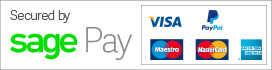 Secure online payments via SagePay.