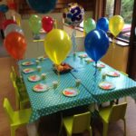 Birthday party table arrangement for 12 children parties at Tots Town