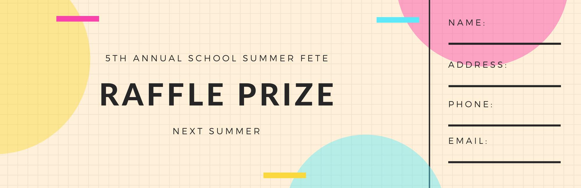 Mock Raffle Prize ticket